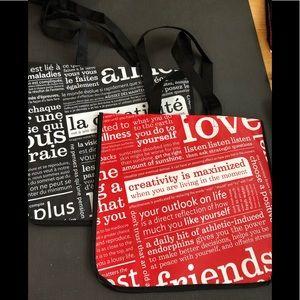 2 (Two) Lululemon reusable bags totes